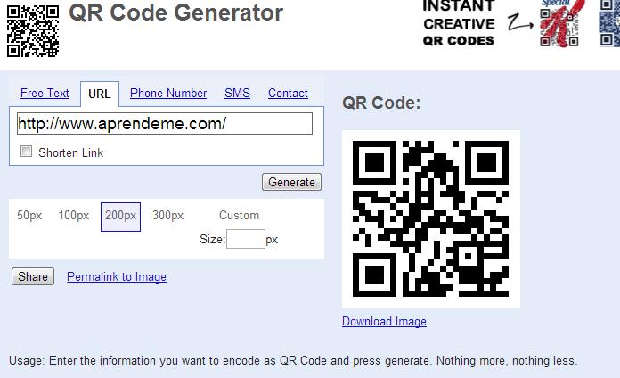 Aprender a crear códigos qr online