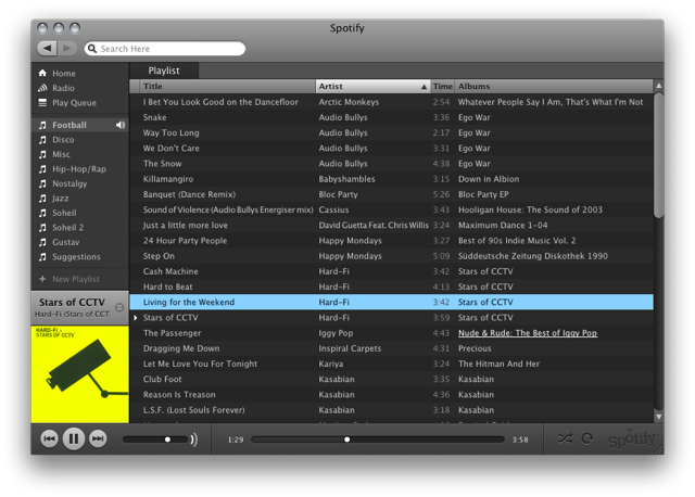 Spotify Listas
