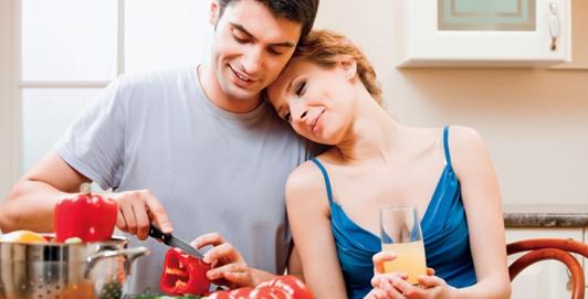 Personas comida feliz