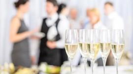 Copas en banquete de bodas