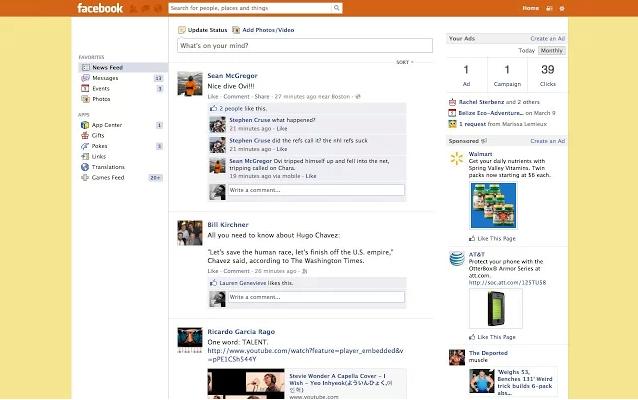 Como cambiar los colores de Facebook