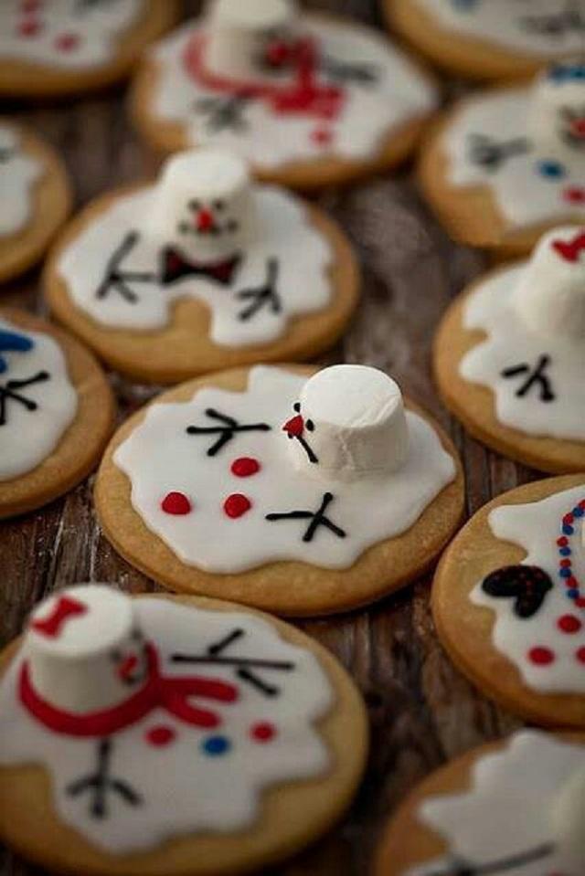 galletas de monos de nieve