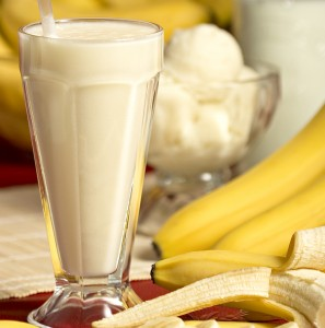 leche con banano