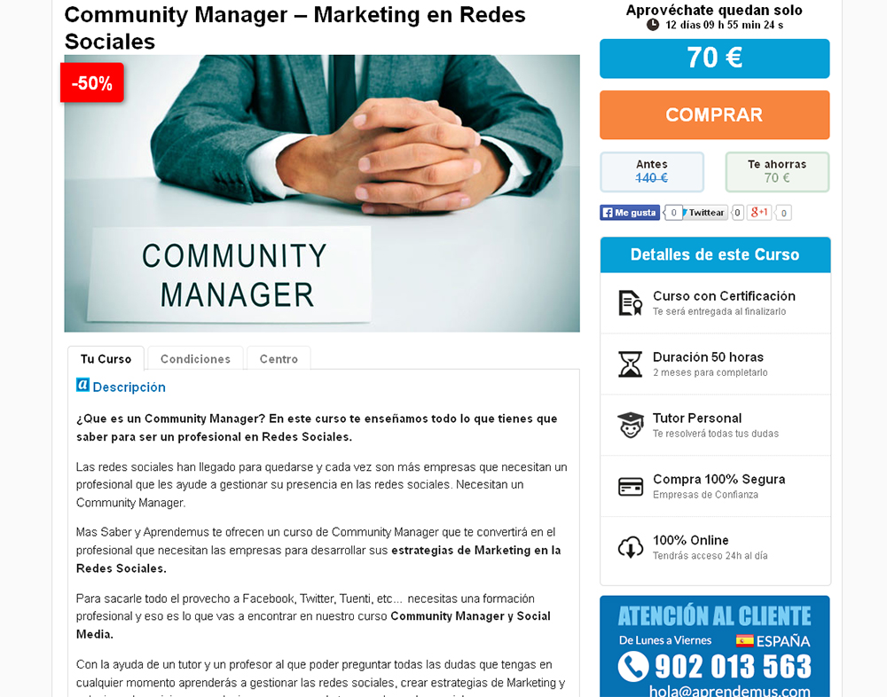 aprendemus community manager