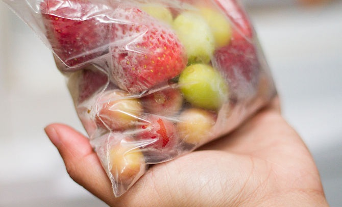 congelar fruta
