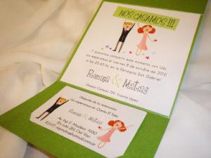 tarjeta de casamiento