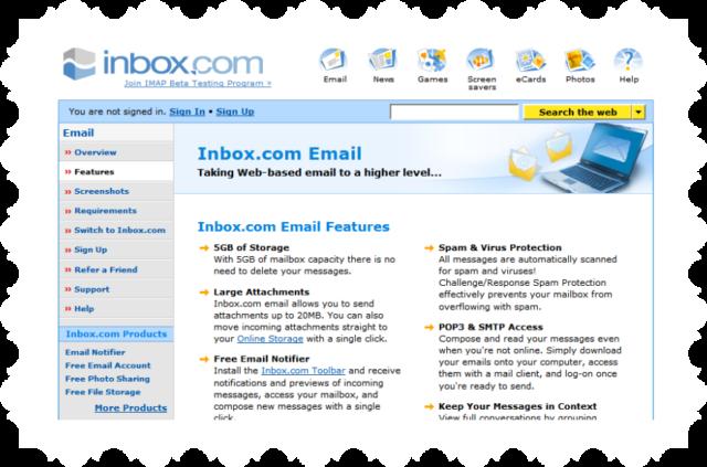 crear correo con Inbox