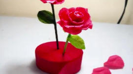 Aprender a hacer flores con papel crepe