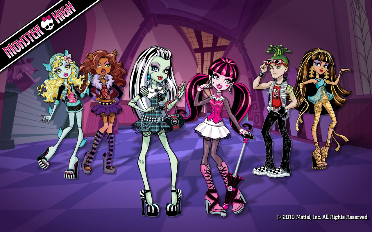 Aprender los personajes de monster high