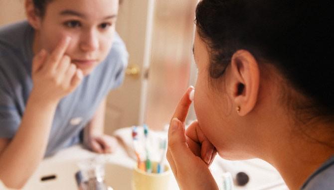 Cuidar piel en la pubertad